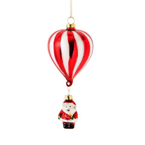 Hot Air Balloon Santa Decoration.