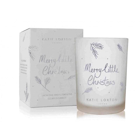 Merry Little Christmas Candle - Snowpine And Clementine