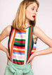 Multicoloured Top With Vertical Stripes