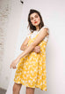 Yellow Print Summer Dress