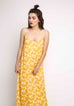 Yellow Floral Print Maxi Dress