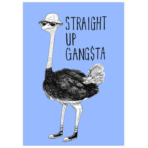 Straight Up Gangsta Card