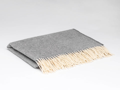 Grey Lambswool Knee Rug Blanket