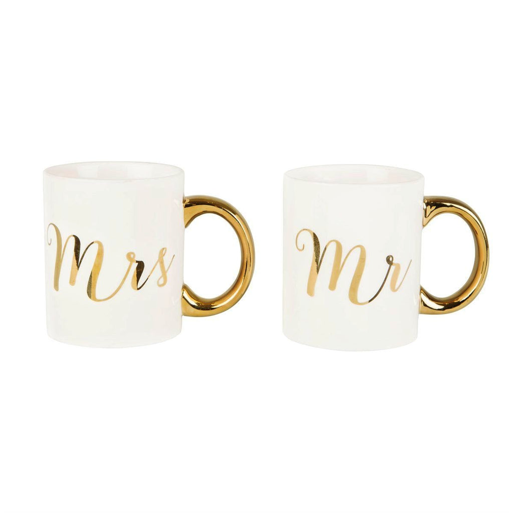 Mr & Mrs Gold Mugs