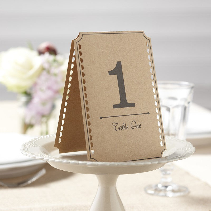 Table Numbers 1-12