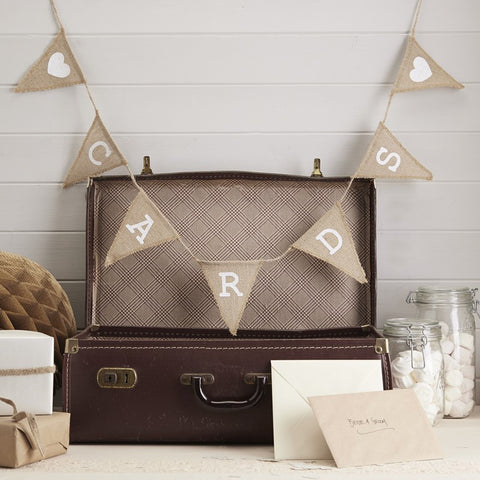 Hessian 'Cards' Bunting Garland
