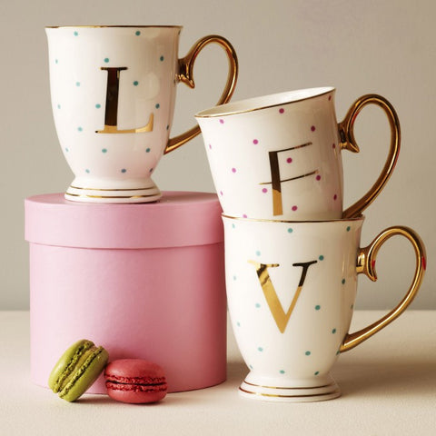 Alphabet Spotty Mugs