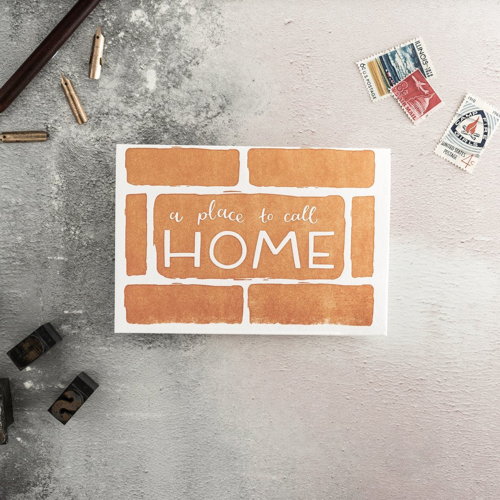 A Place To Call Home Letterpress Card