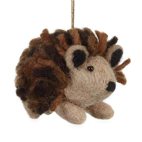 Felt Brown Hedgehog