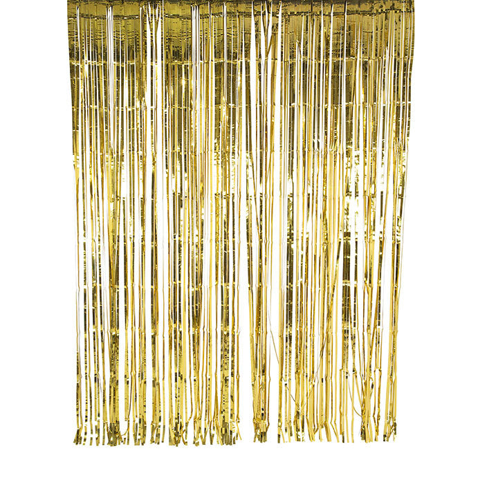 Metallic Curtain Decoration