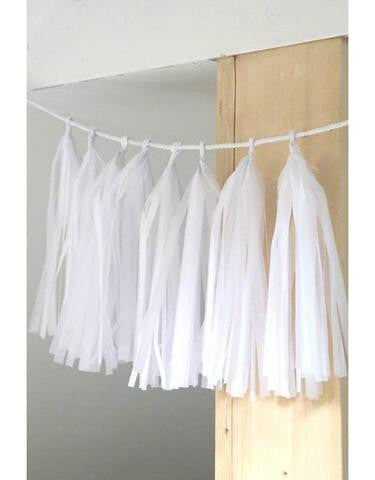 DIY Tassel Garland White