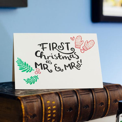 First Christmas Couple Card