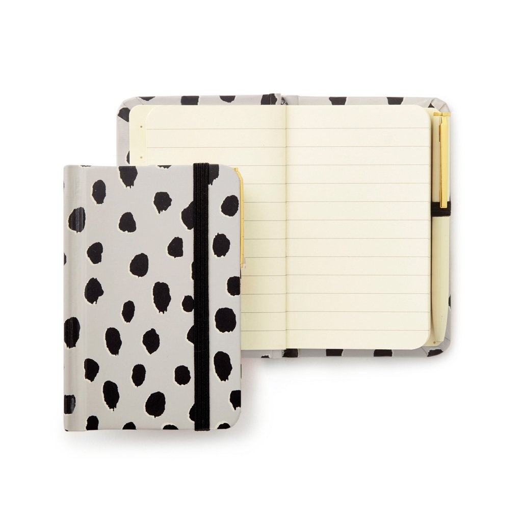 Mini Notebook With Pen, Flamingo Dot