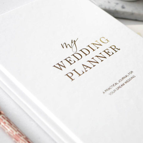 Luxury Wedding Planner White + Gold. PRE-ORDER.