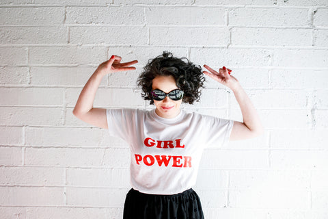 'Girl Power' Slogan T-Shirt (White)