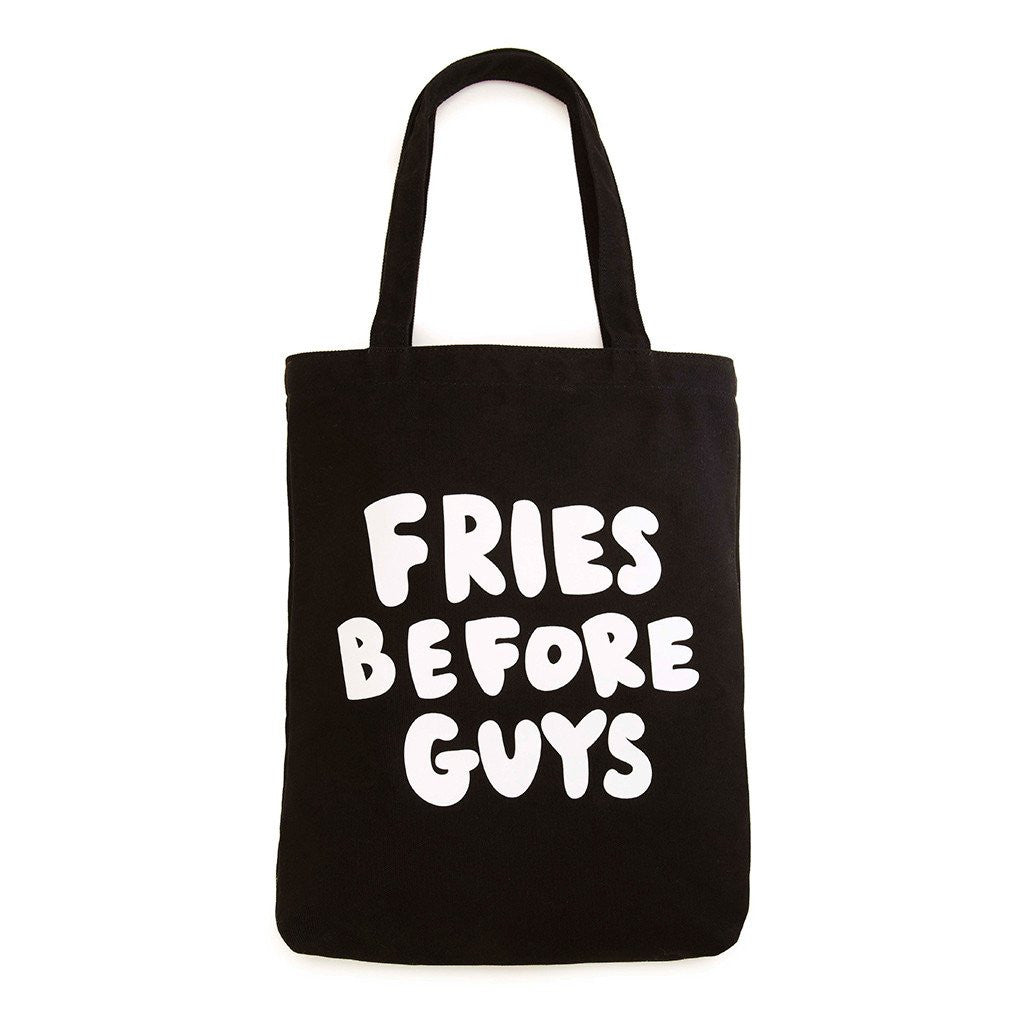 Canvas Tote, Fries Before Guys #