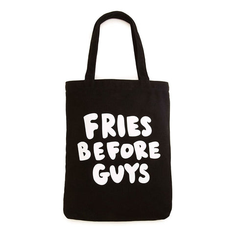 Canvas Tote, Fries Before Guys