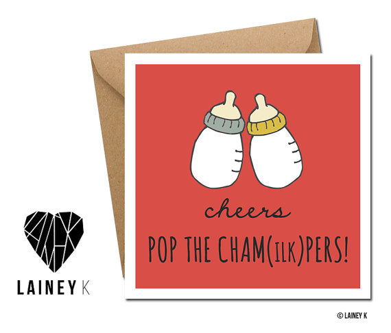 Cheers Pop The Cham(ilk)pers Card