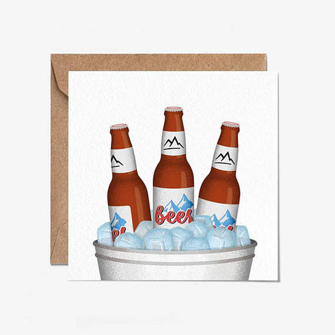 Coors Beer Greeting Card