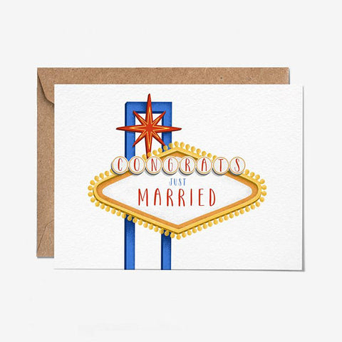 Congrats Just Married Greeting Card