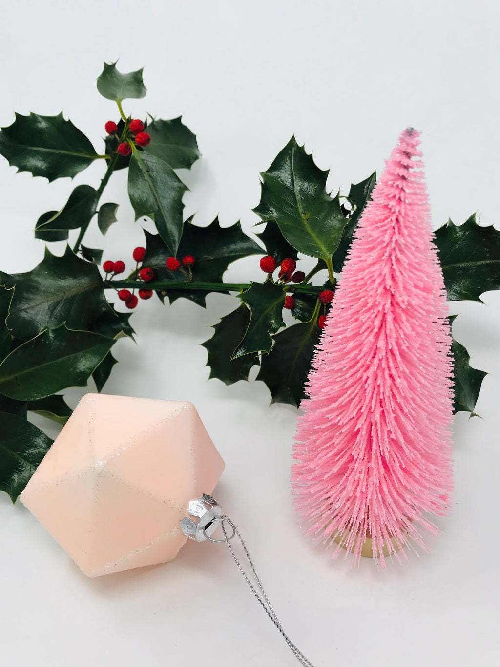 Pink Brush Christmas Tree