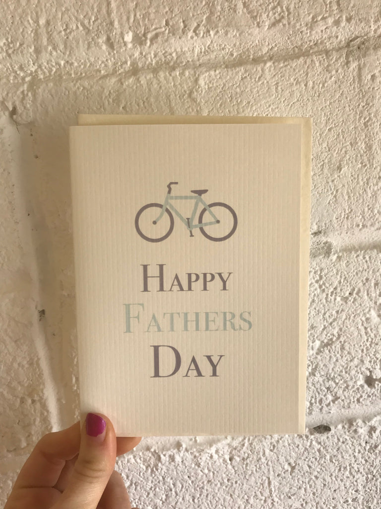 Happy Fathers Day Greeting Card (Bike)