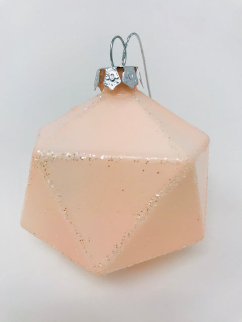 Pink Geometric Bauble