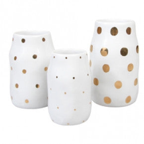 Set Of 3 Dotted Vases