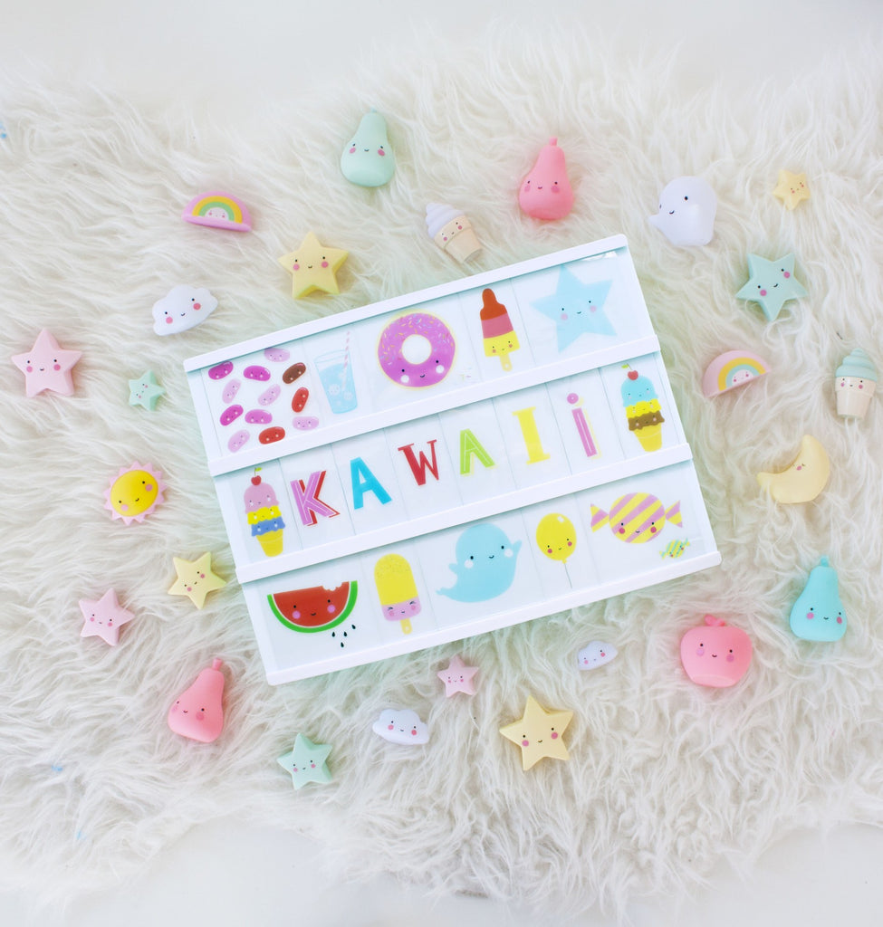 Lightbox Letter Set- Kawaii