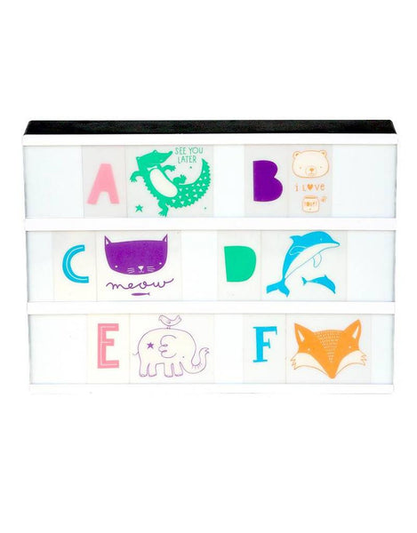 Lightbox Letter Set- ABC Pastel