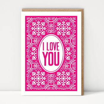 I Love You Greeting Card - Big Jon