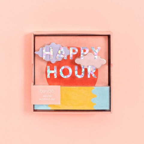 Deluxe Notepad Set - Happy Hour
