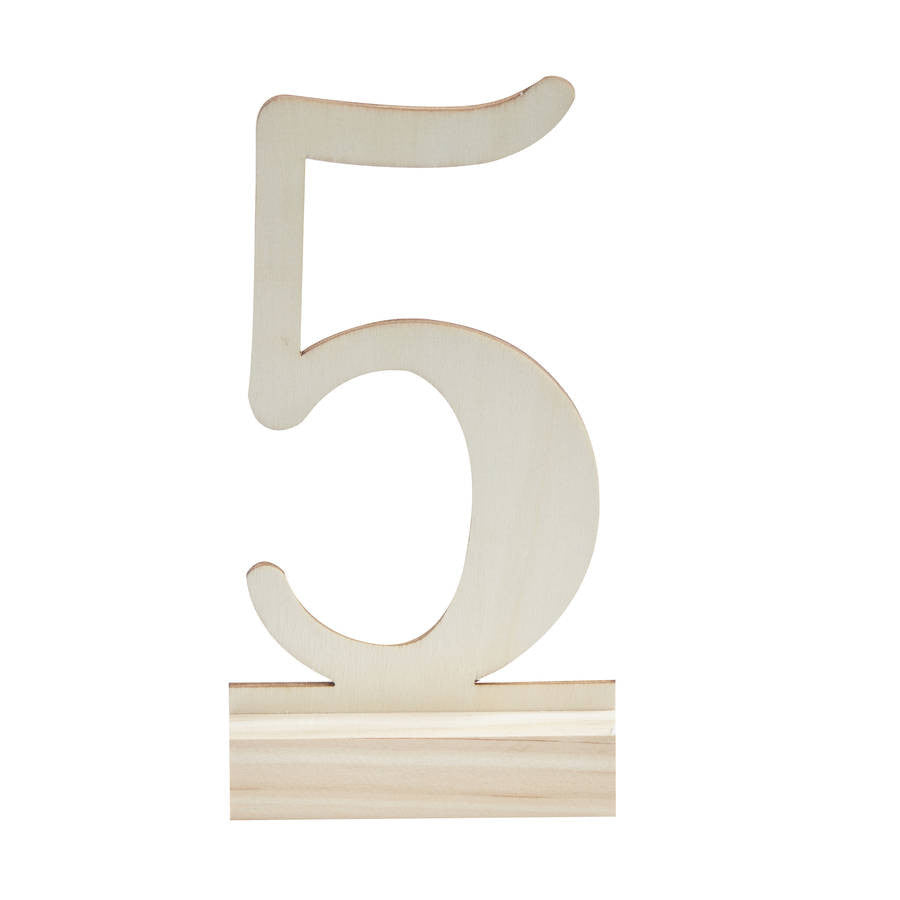 Standing Wooden table Numbers 1-12