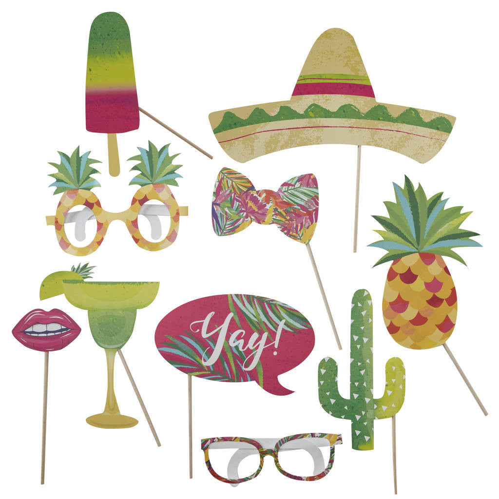 Tropical Photo Booth Props