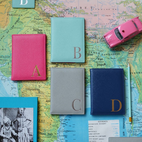Monogram Passport Cover With Initial