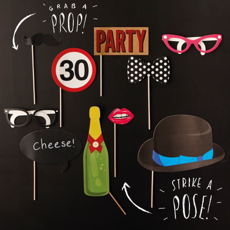 30th Birthday Photobooth Props