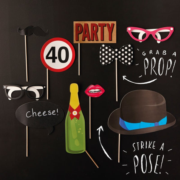 40th Birthday Photobooth Props