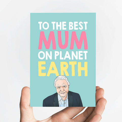 Best Mum on The Planet Card