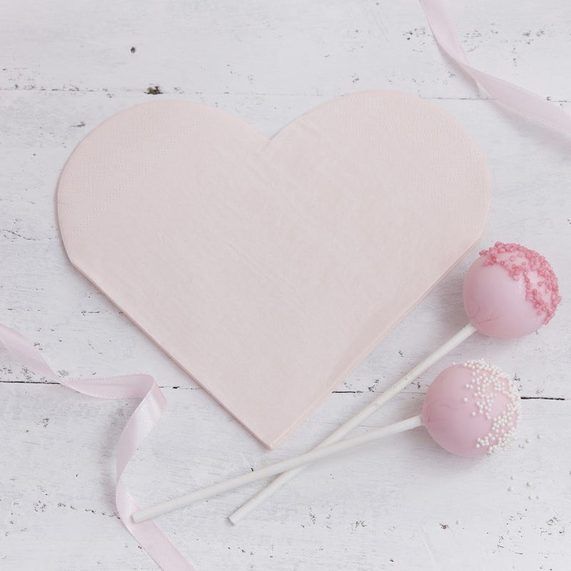 Heart Shaped Paper Napkins