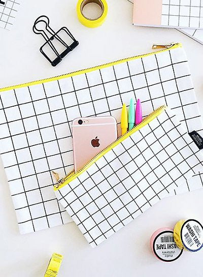 Grid Pencil Case
