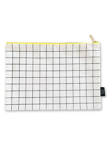 Grid Large Canvas Bag