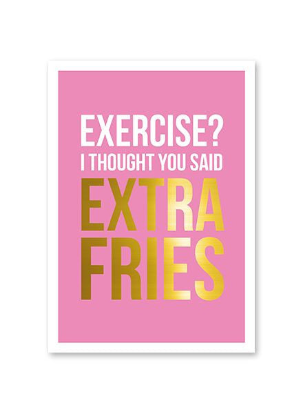 Extra Fries Postcard