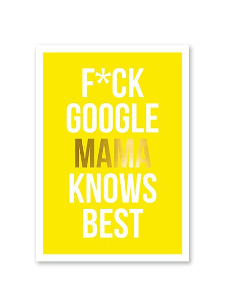 Mama Knows Best Postcard