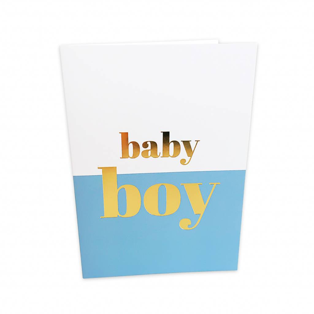 Baby Boy Greeting Card Moss Cottage