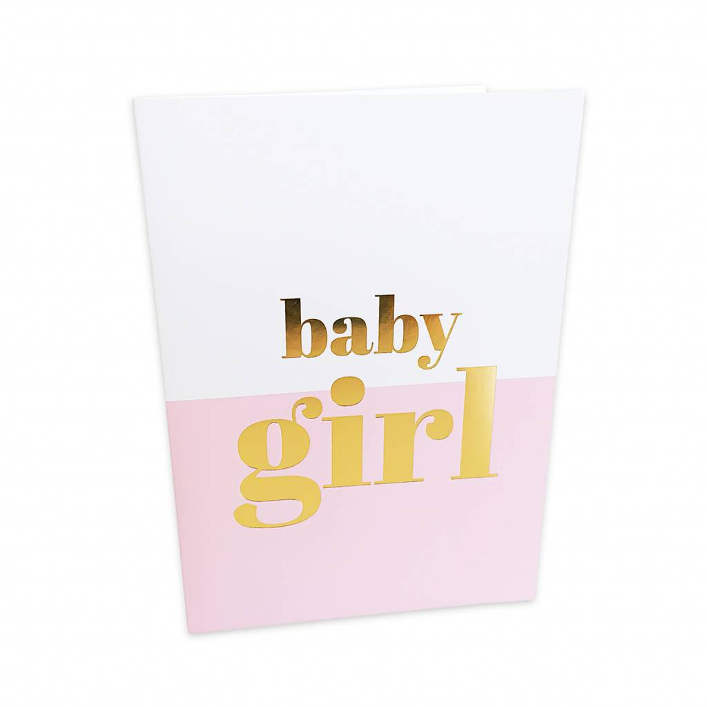 Baby girl greeting card moss cottage baby girl greeting card kristyandbryce Images