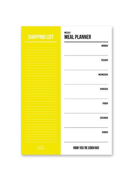 Meal Food Planner & Shopping List