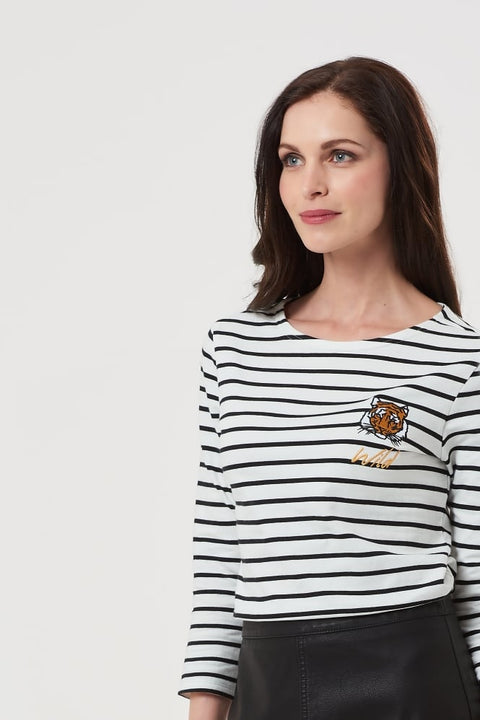 Wild Tiger Striped Top