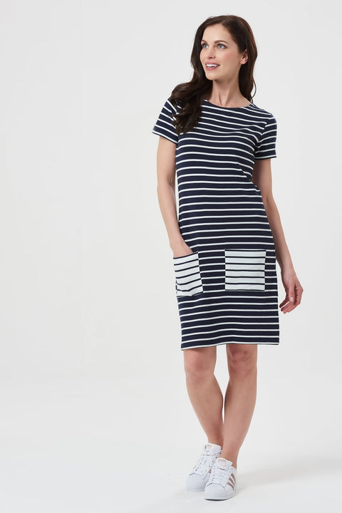 Navy Stripe Tunic Dress