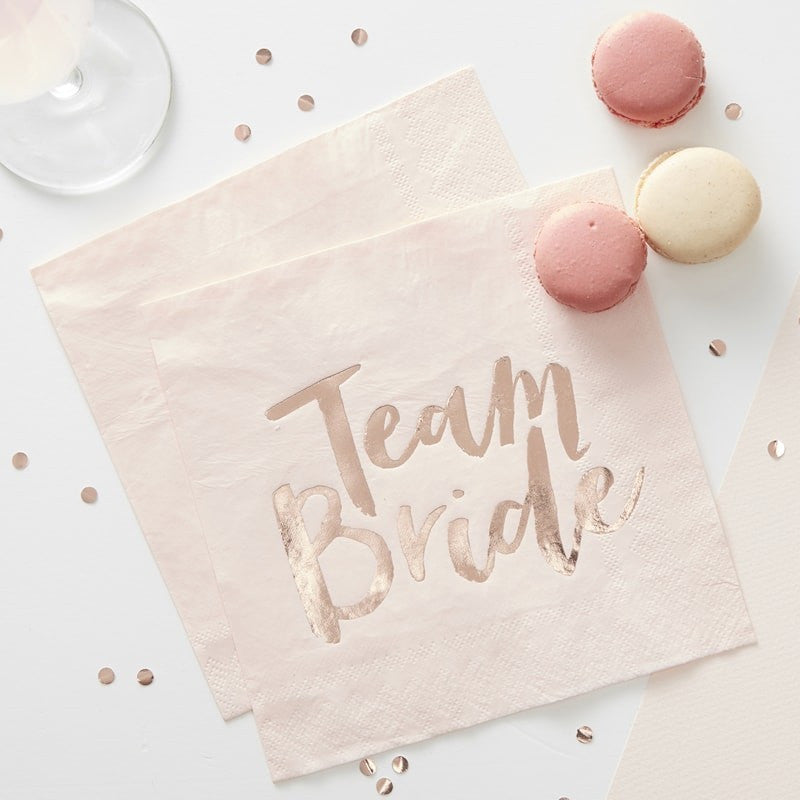 Team Bride Paper Napkins