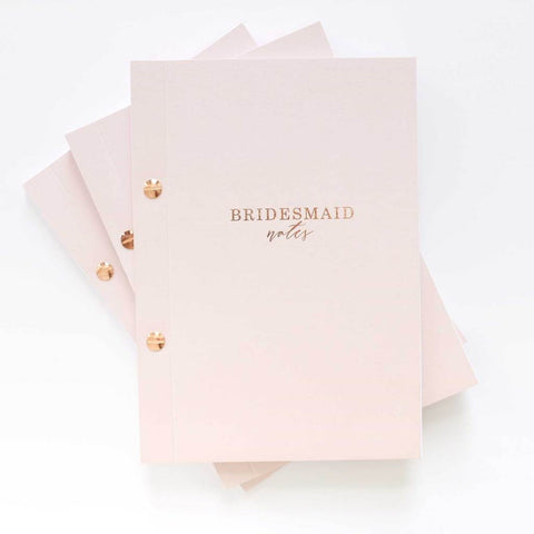 Bridesmaid Planner, Blush Rose Gold. PRE-ORDER.